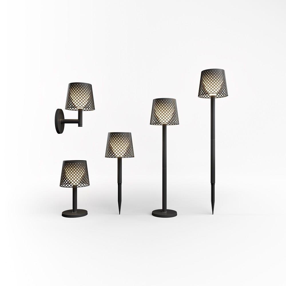 Lámpara solar de plástico New Garden Greta color negro