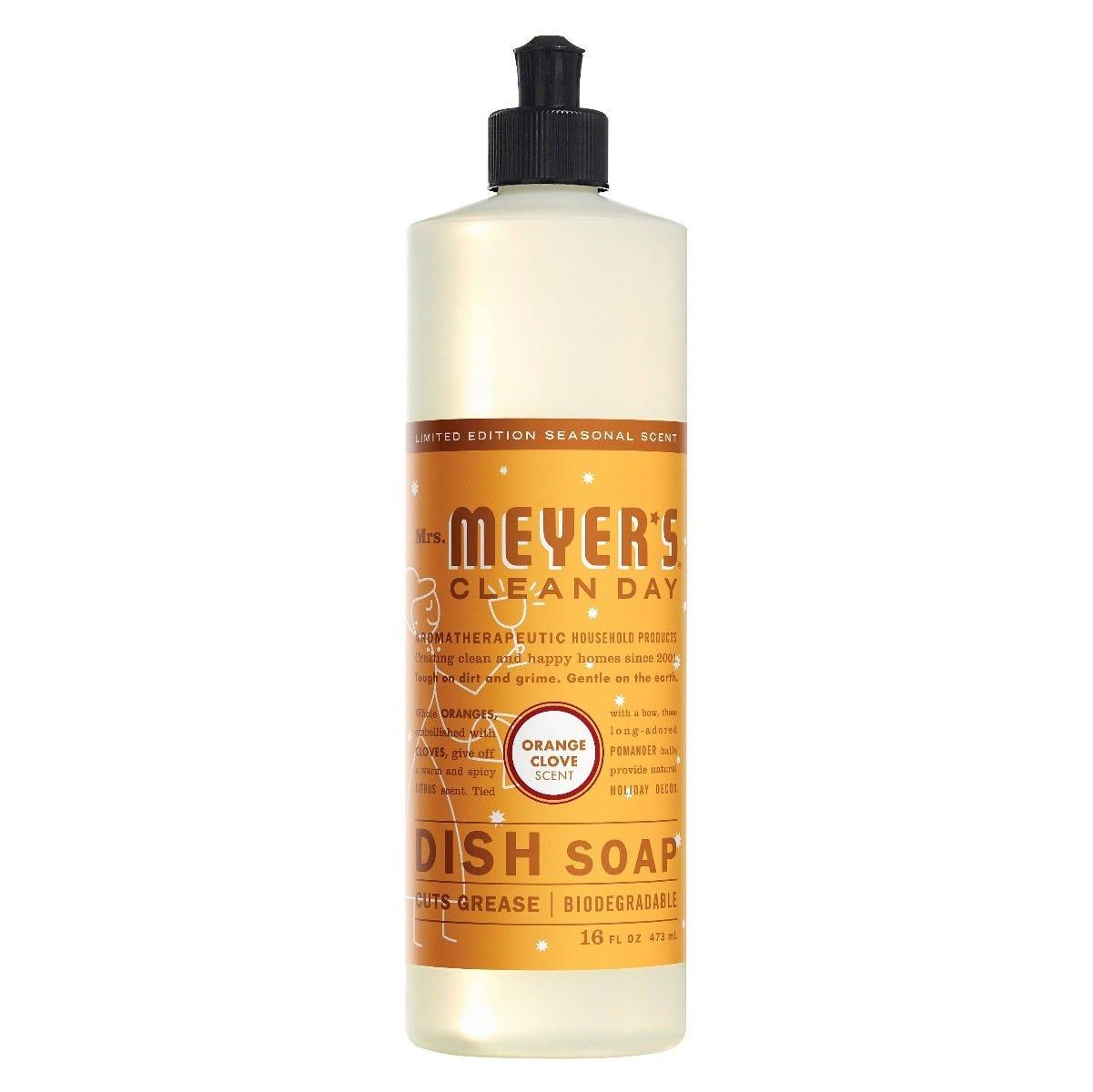 Jabón líquido para platos Mrs. Meyer's® aroma clavo de naranja de 473.17 mL