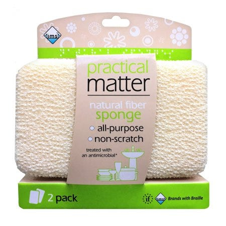 Esponja de fibras naturales Practical Matter™