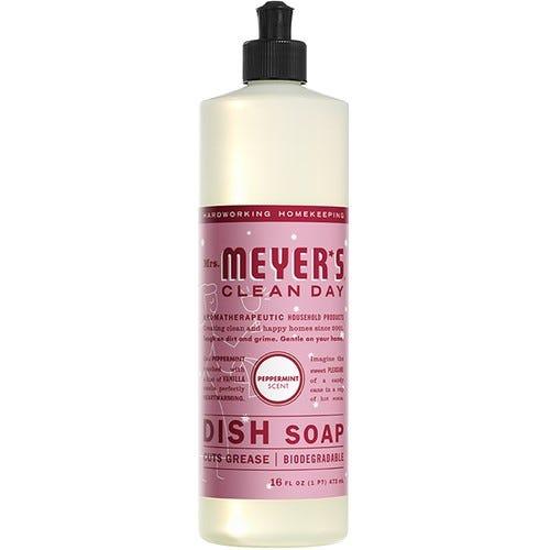 Jabón líquido para platos Mrs. Meyer's® aroma menta de 473.17 mL