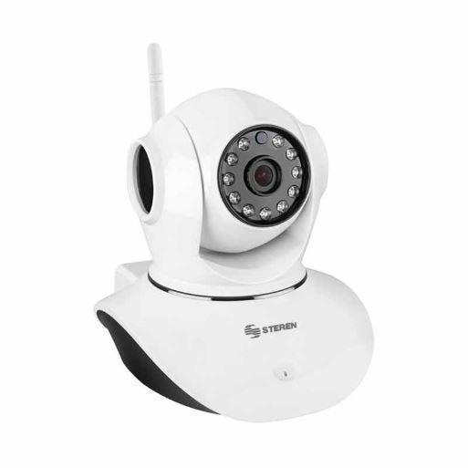 Cámara de seguridad Steren® monitorizada con wi-fi color blanco