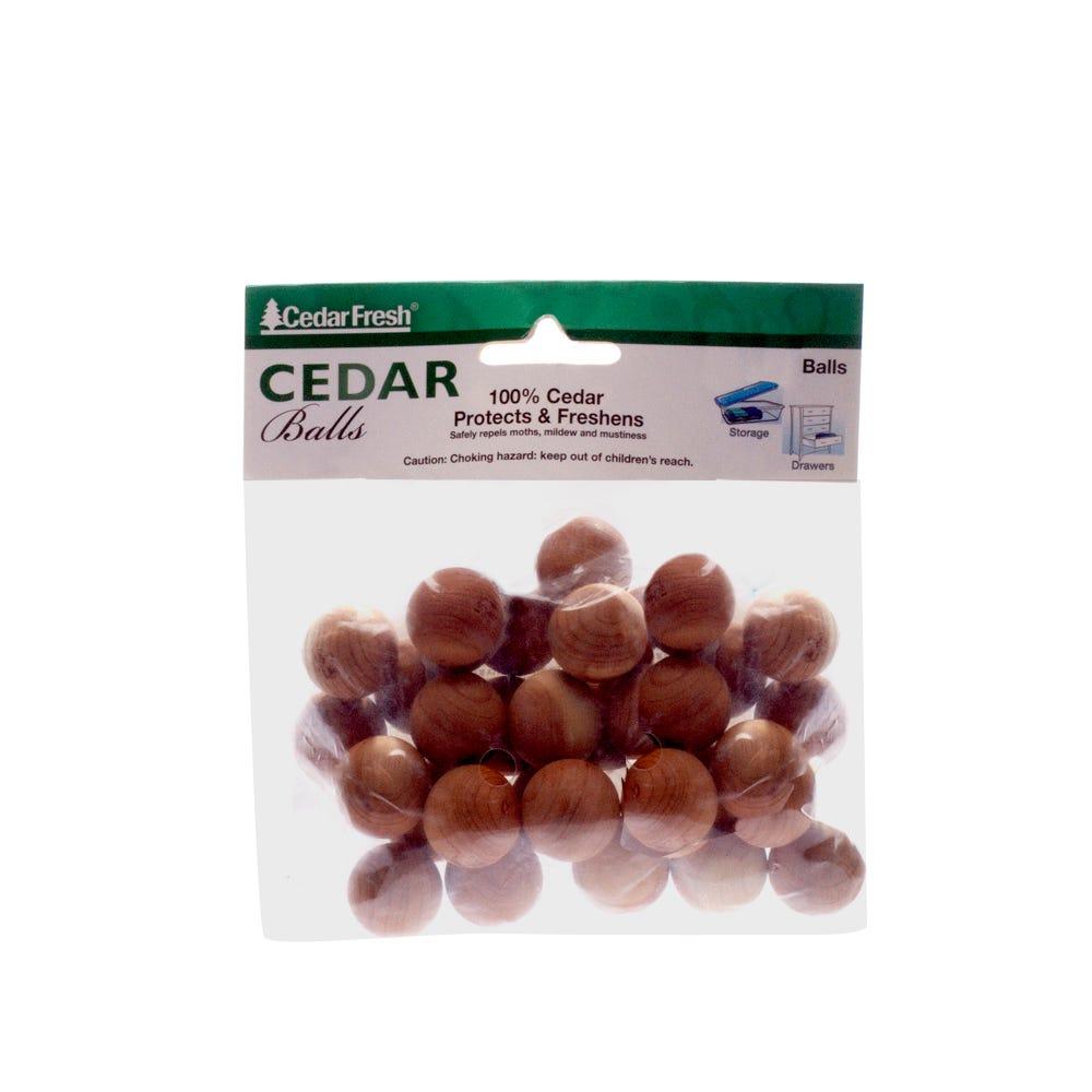Bolas para evitar humedad y malos olores de cedro, Set 30