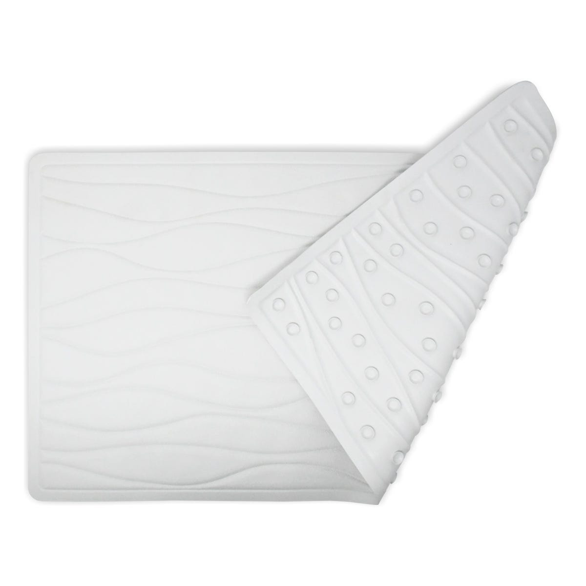 Tapete de baño de algodón Carnation Home Fashions color blanco
