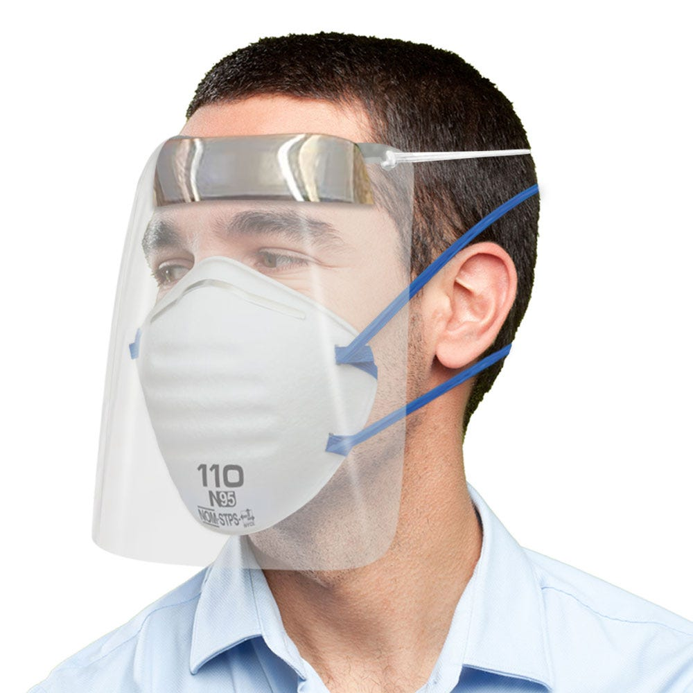 Kit protector facial Mica y Cubrebocas N95