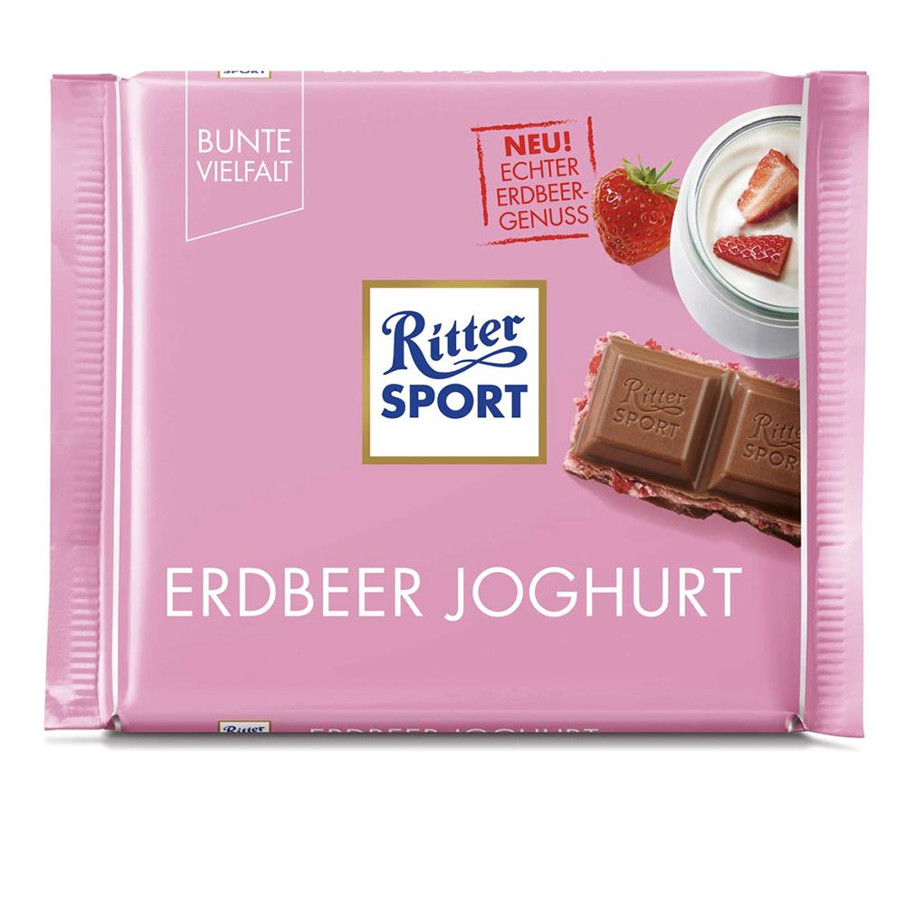Chocolate fresa con yogur Ritter® de 100 g