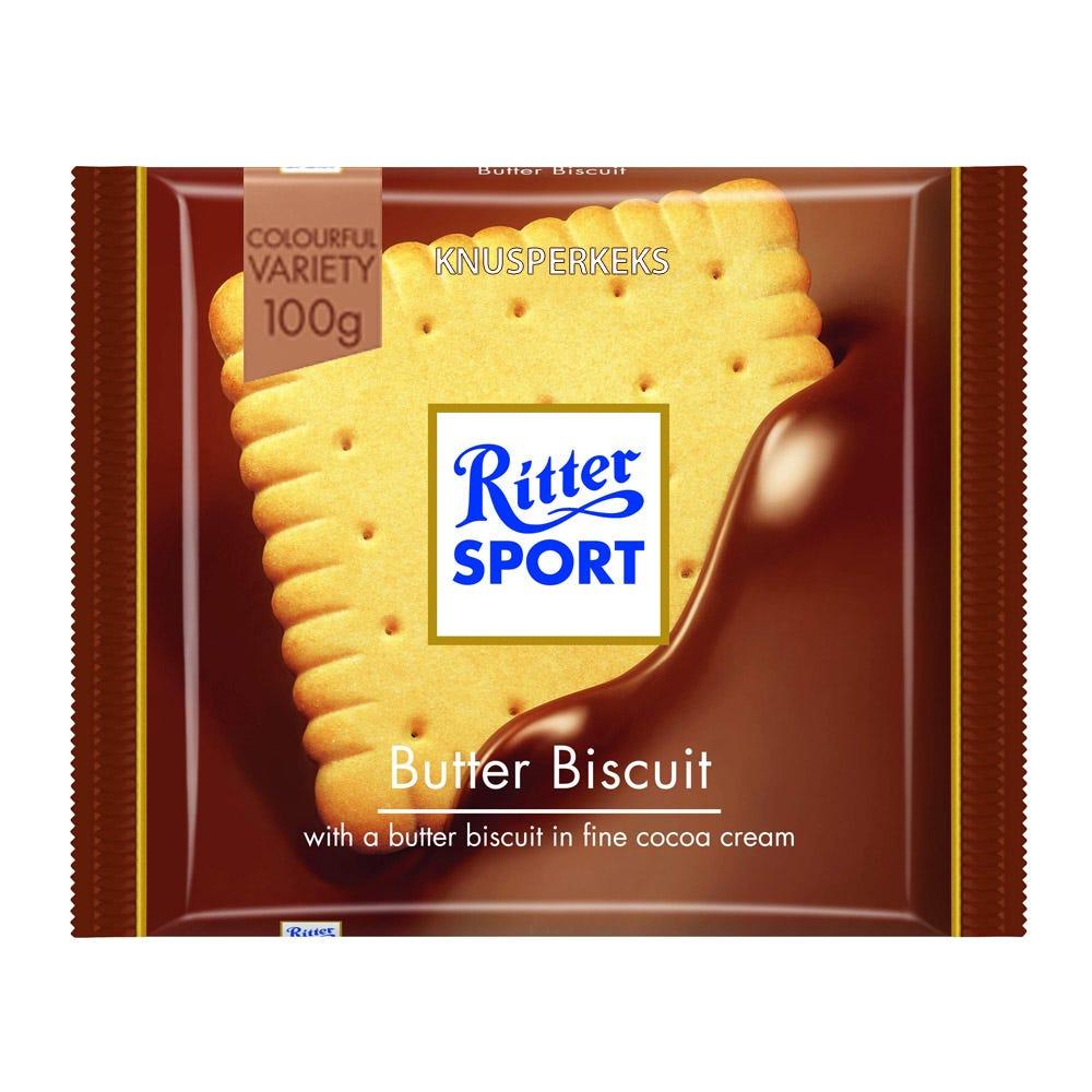 Chocolate con leche y galleta Ritter® de 100 g