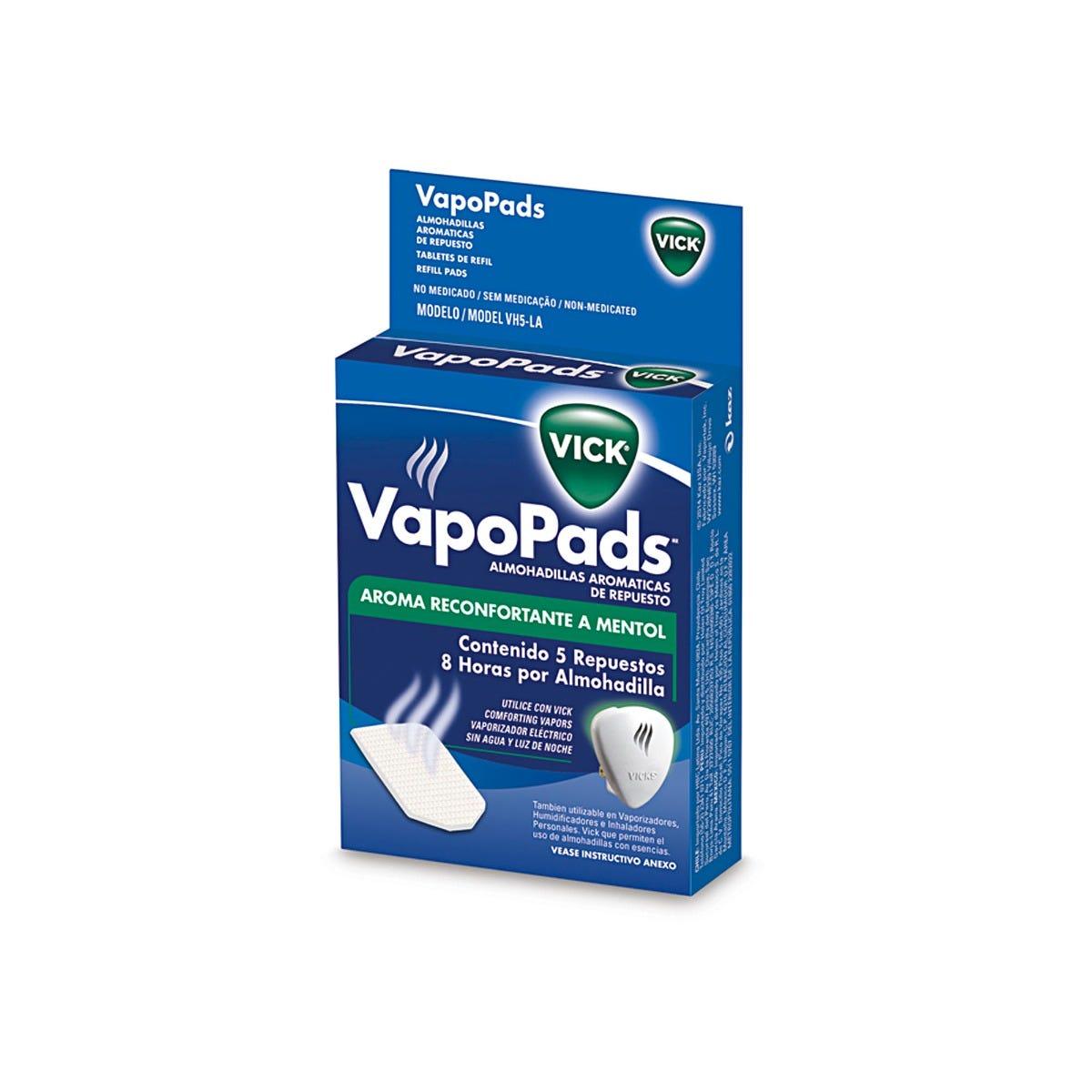 Repuestos almohadillas Vicks® VapoPads olor a menta