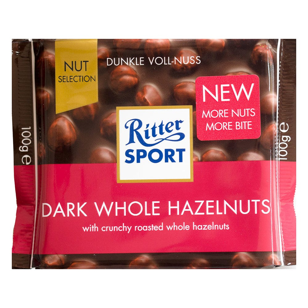 Chocolate amargo con avellanas Ritter® de 100 g
