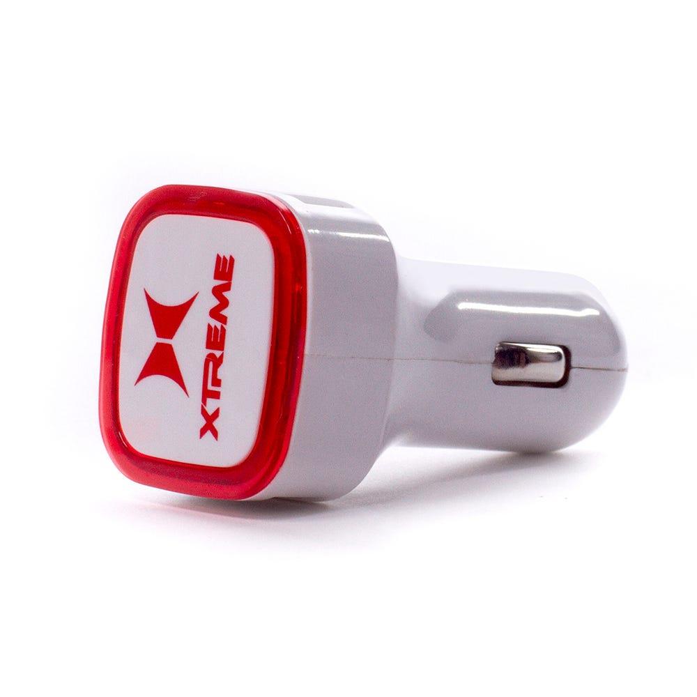 Cargador para coche con 2 puertos USB MyTech® en hueso