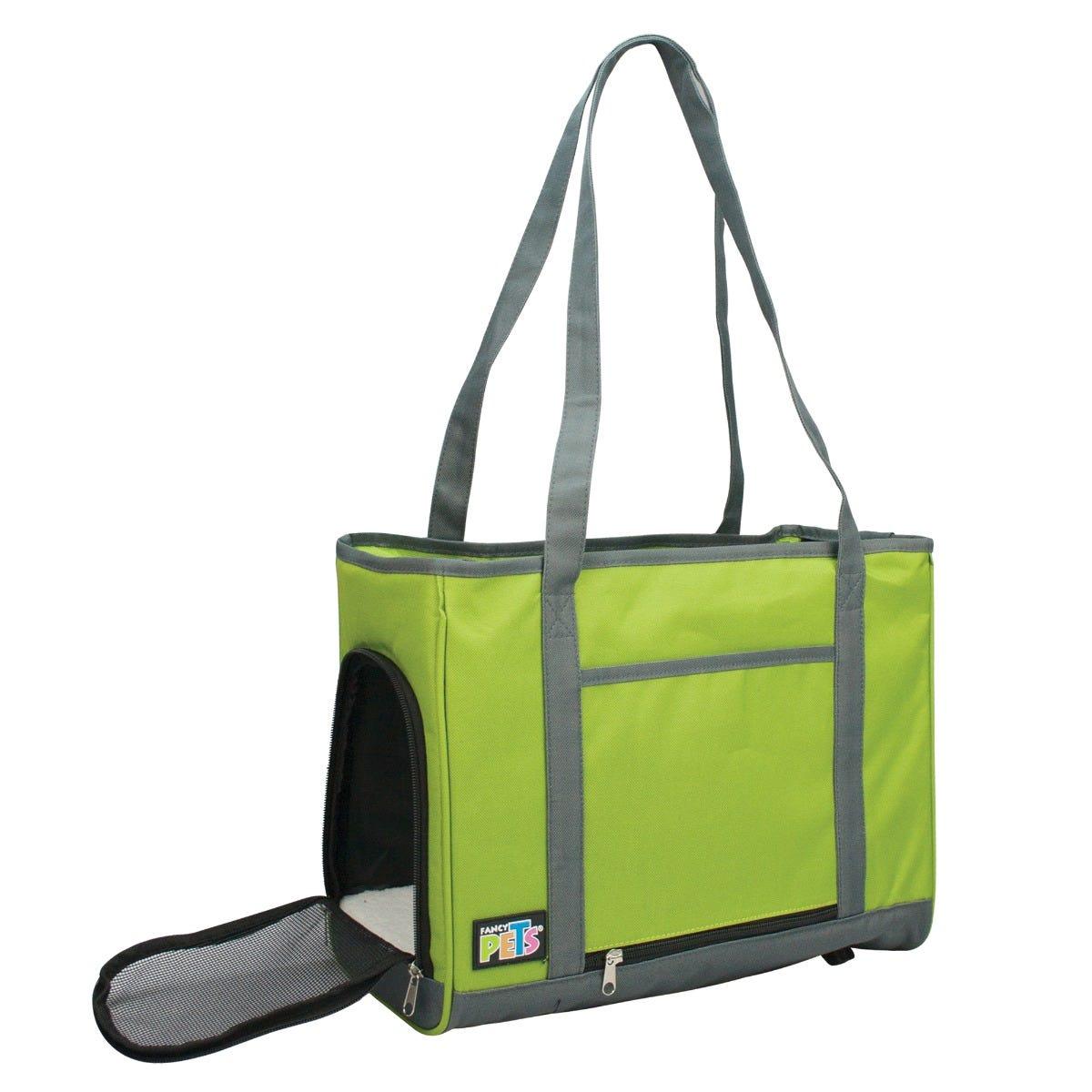 Transportadora de mano Fancy Pets®de tela en verde