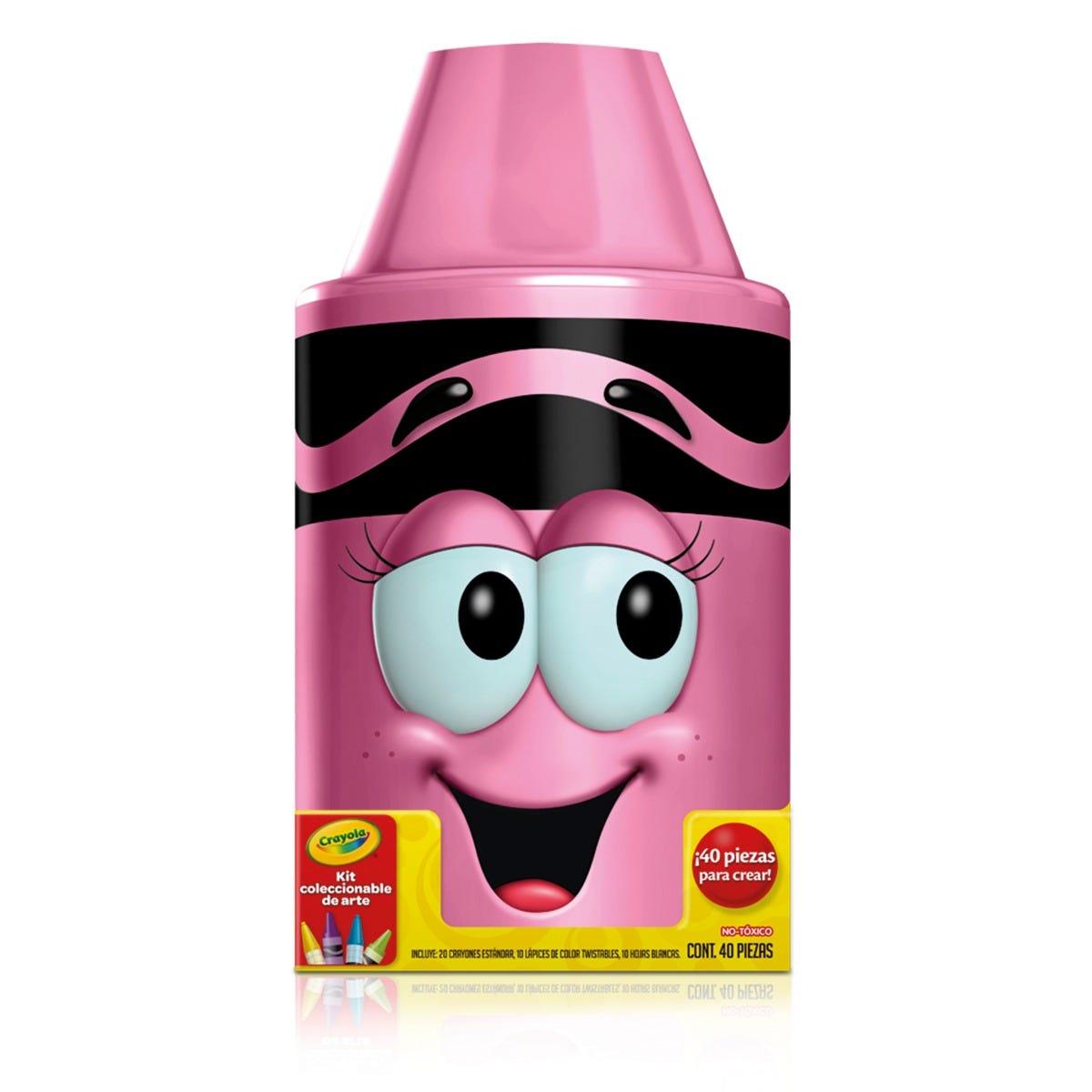 Kit coleccionable de arte Crayola® en rosa