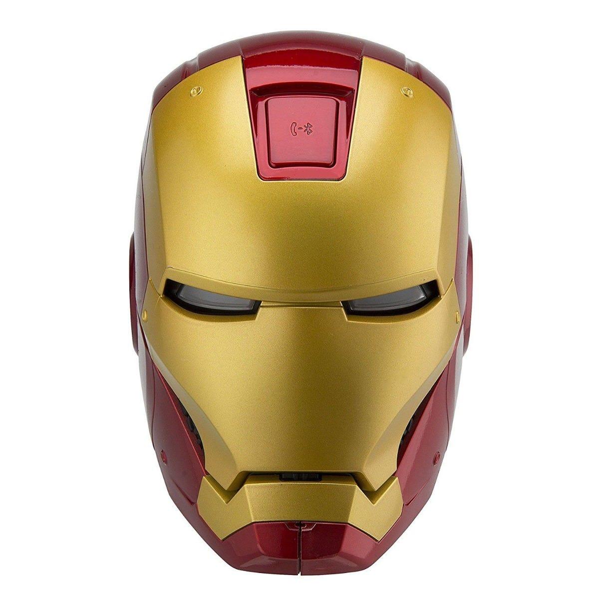 Bocina iHome® con diseño de Iron Man de bluetooth en rojo