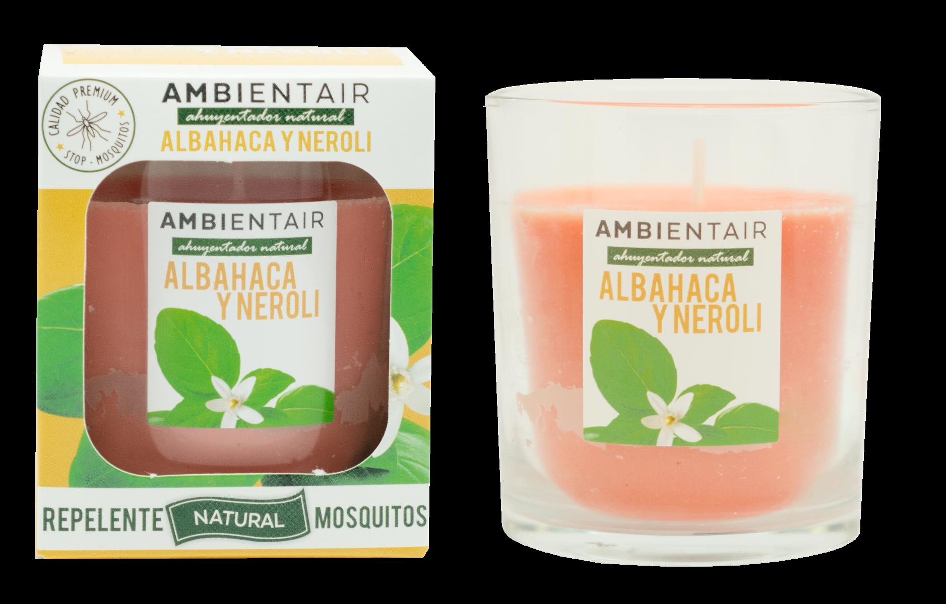 Vela Albahaca-Neroli Ambient Air® Repelente de mosquitos