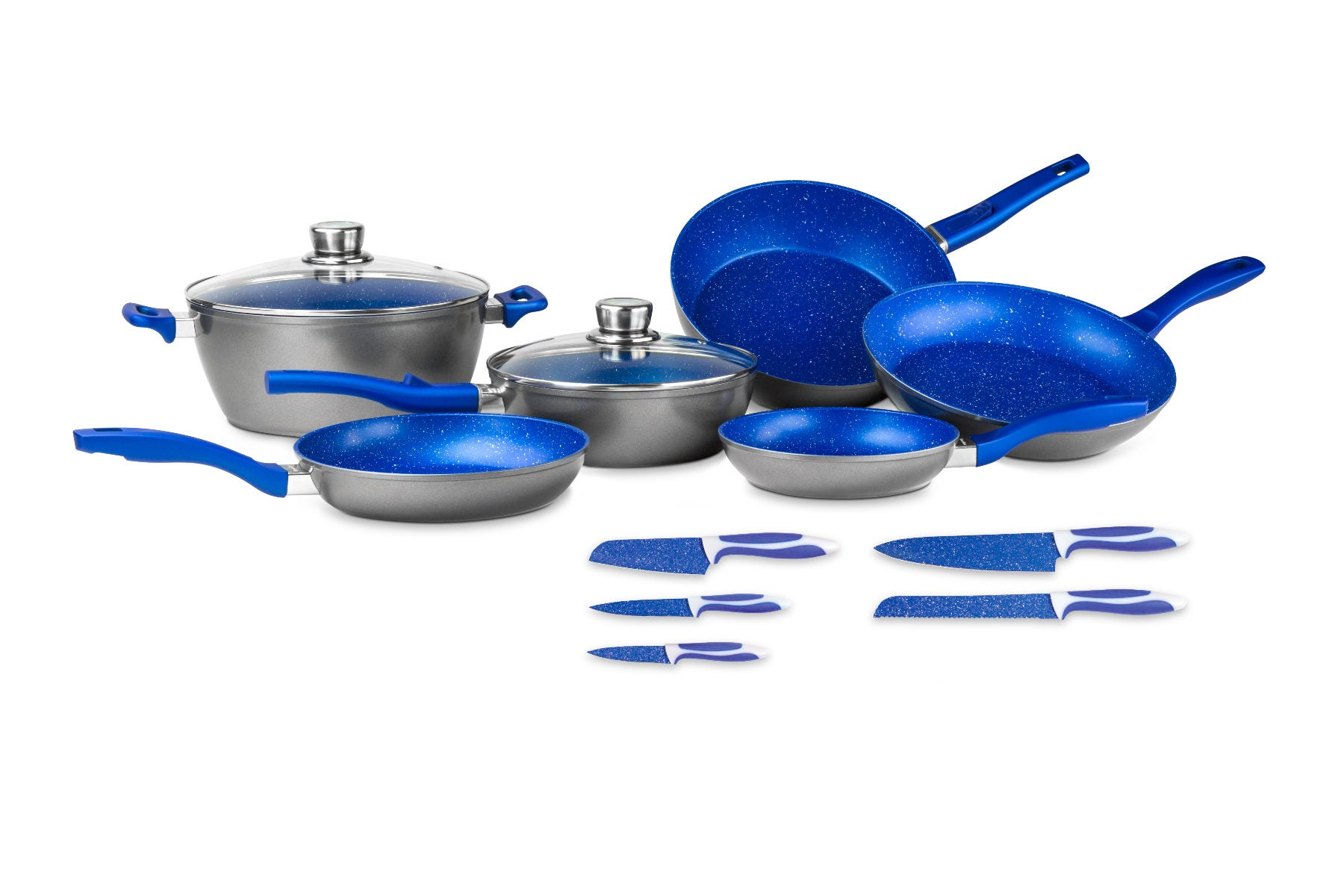 Batería Flavorstone® Family Set en azul, 13 piezas
