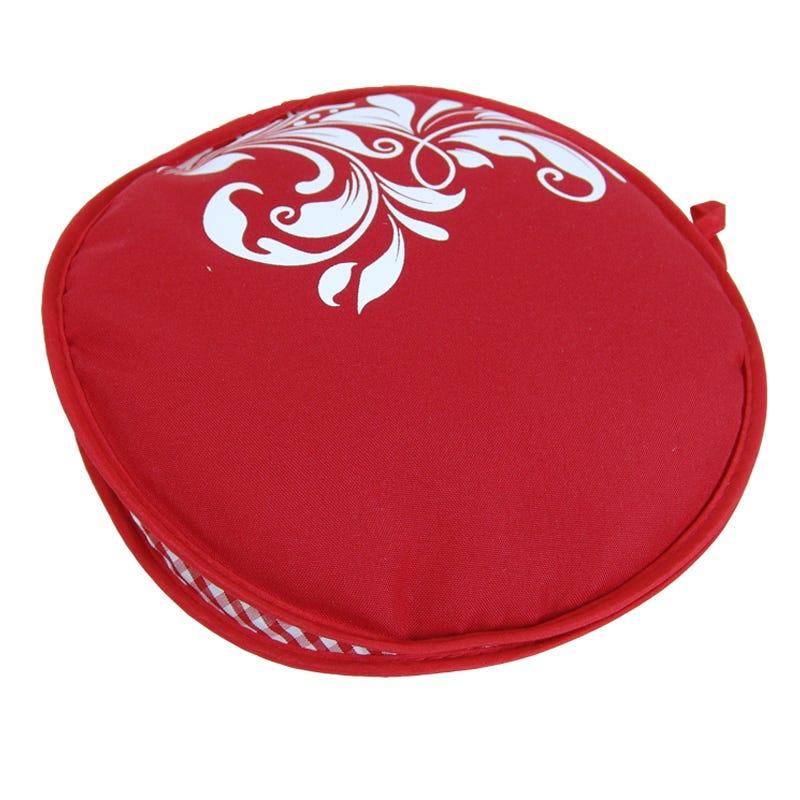 Tortillero de tela Tortilla Oven® con diseño floral color rojo