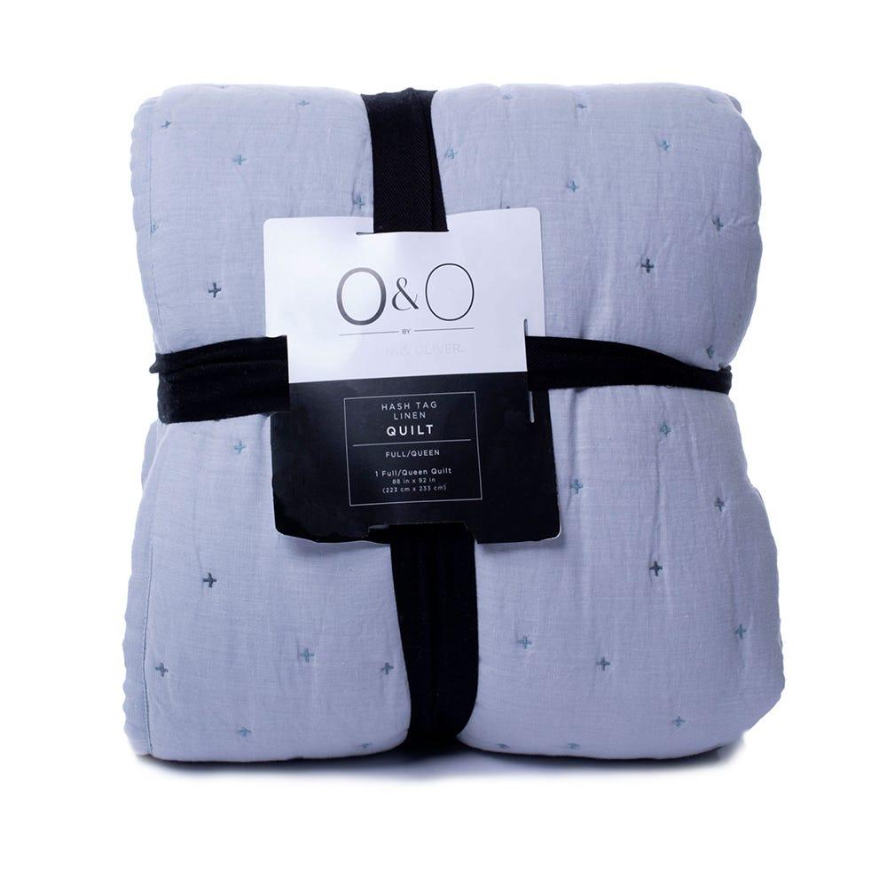 Edredón Queen texturizado  O&O by Olivia & Oliver™ en turquesa