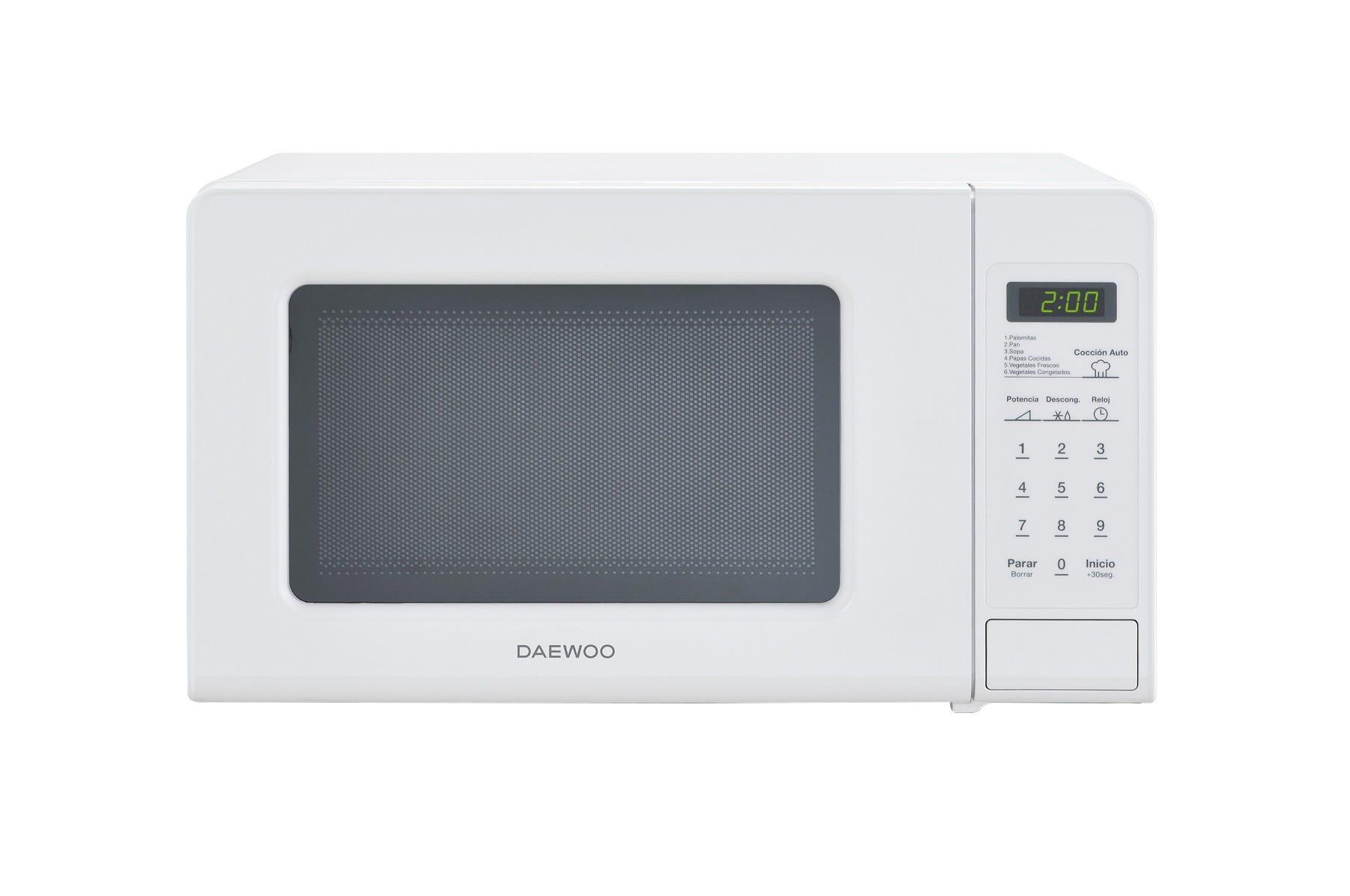 Horno de microondas Daewoo® en blanco