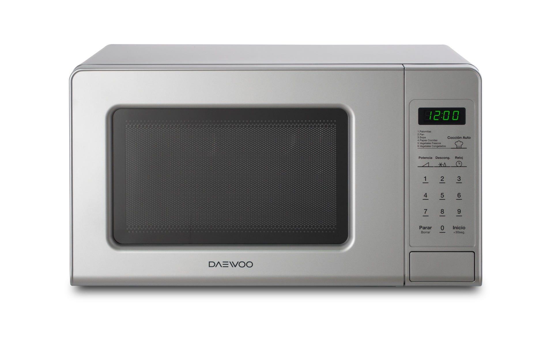 Microondas Daewoo® KOR-661S en plateado