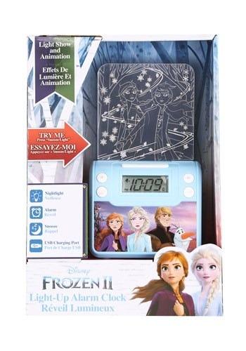Reloj despertador de plástico Disney® Frozen™ con lámpara color azul
