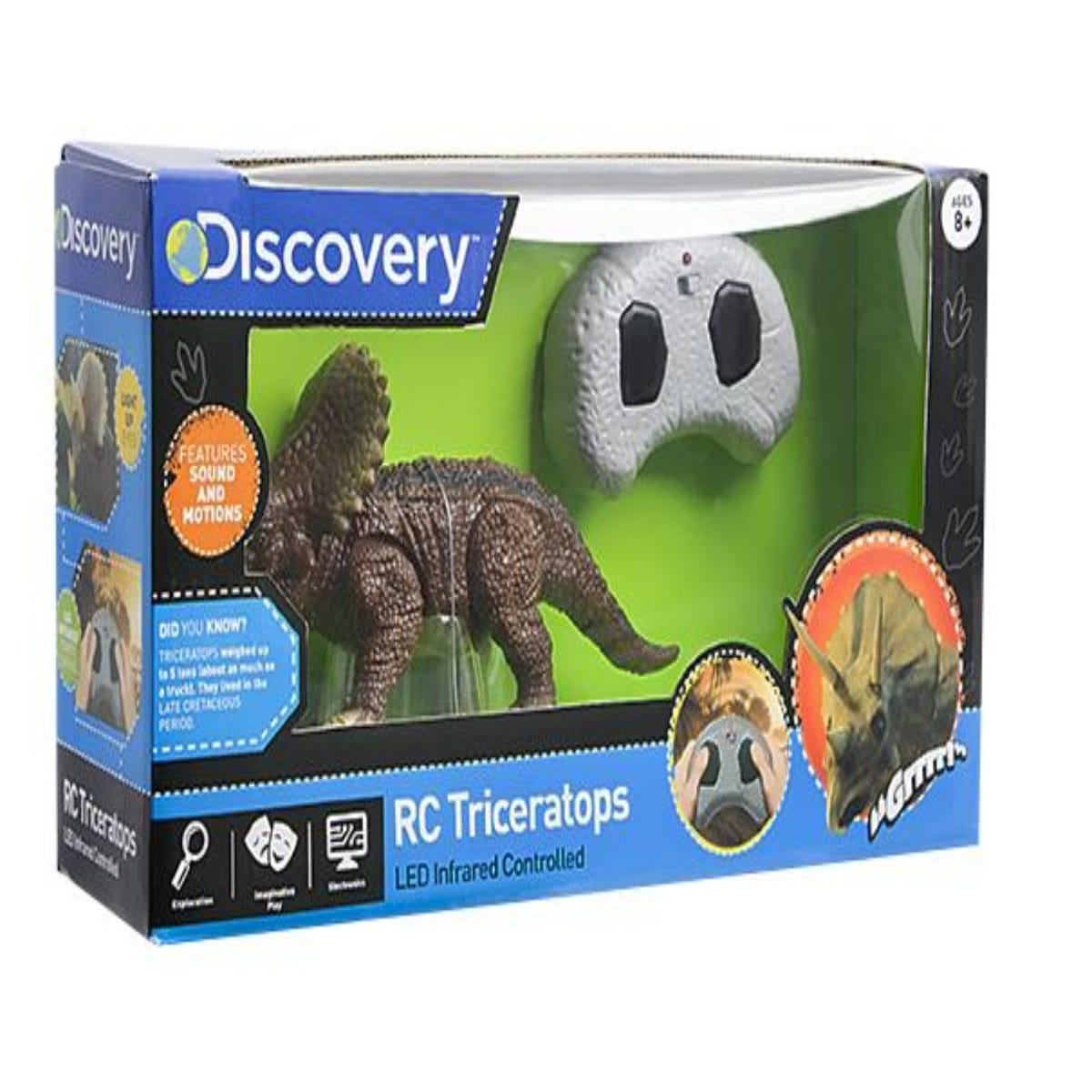 Triceratops de juguete a radio control Discovery®