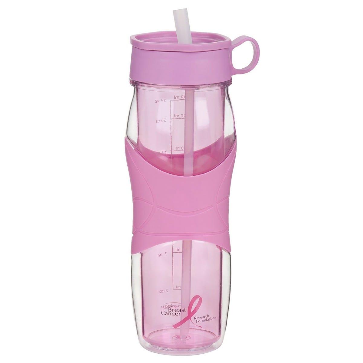 Botella de Agua con Popote Trudeau® de 473 mL en rosa
