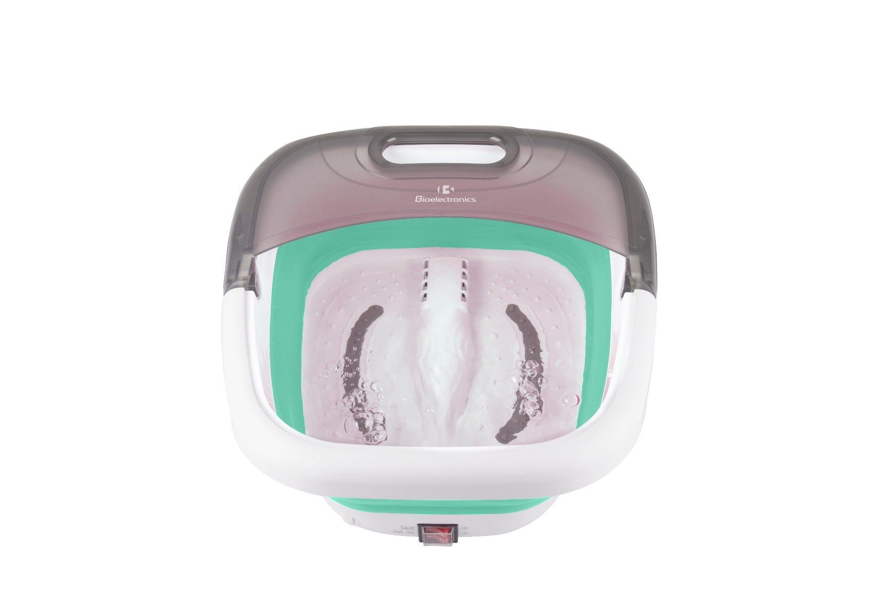 Spa de pies Bioelectronics® térmico con hidromasaje color blanco