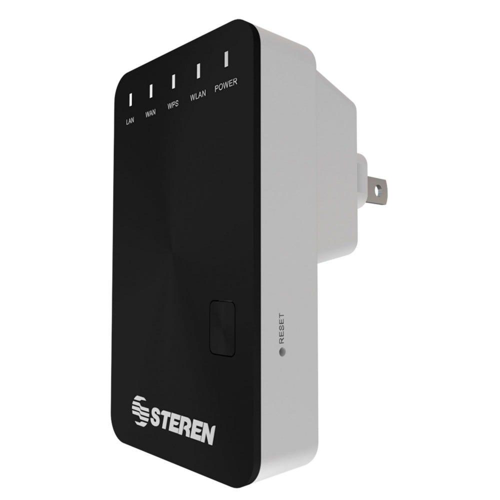 Repetidor y punto de acceso Wi-Fi Steren® color negro