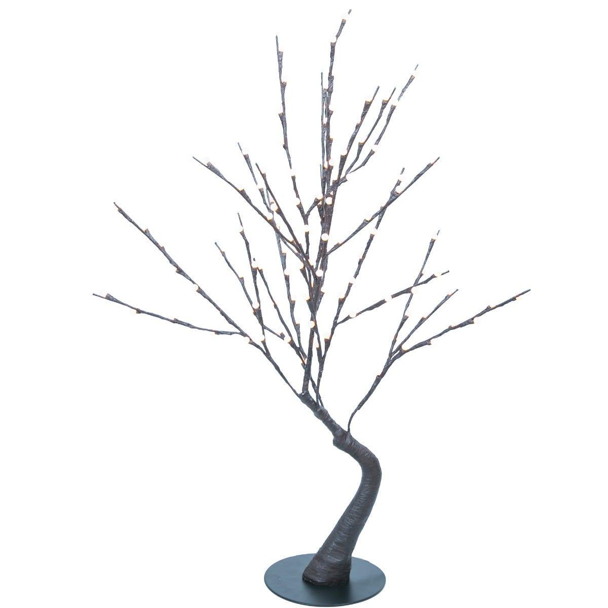 Figura decorativa de plástico Running Decora® con copos de nieve de 120 LEDS
