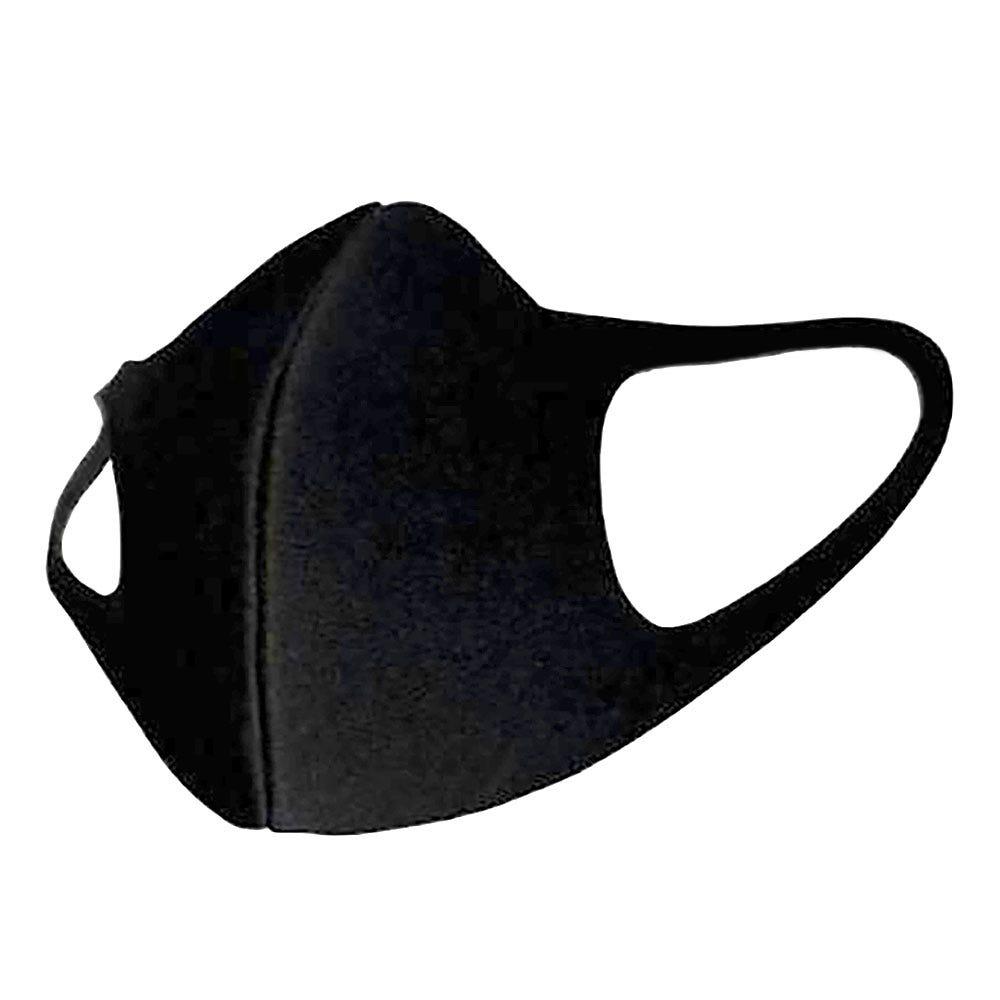 Cubrebocas de 3 capas reutilizable en negro
