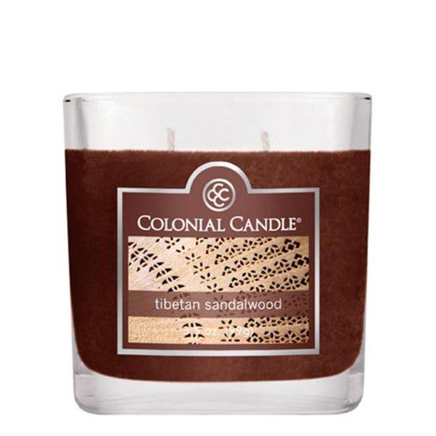 Vela en vaso de vidrio Colonial Candle® aroma Tibetan Sandalwood de 99.22 g