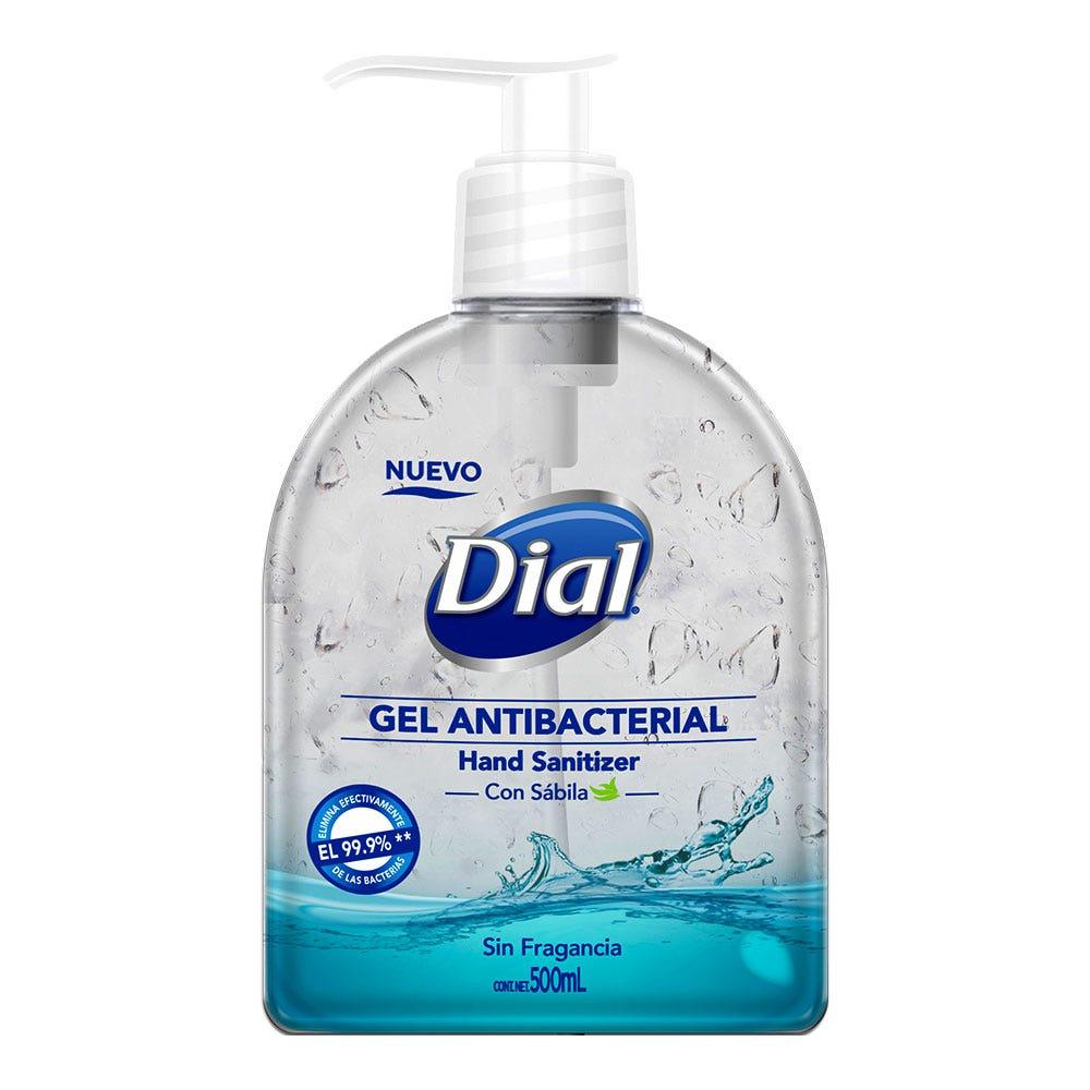 Gel Antibacterial Dial® con sábila 500 mL