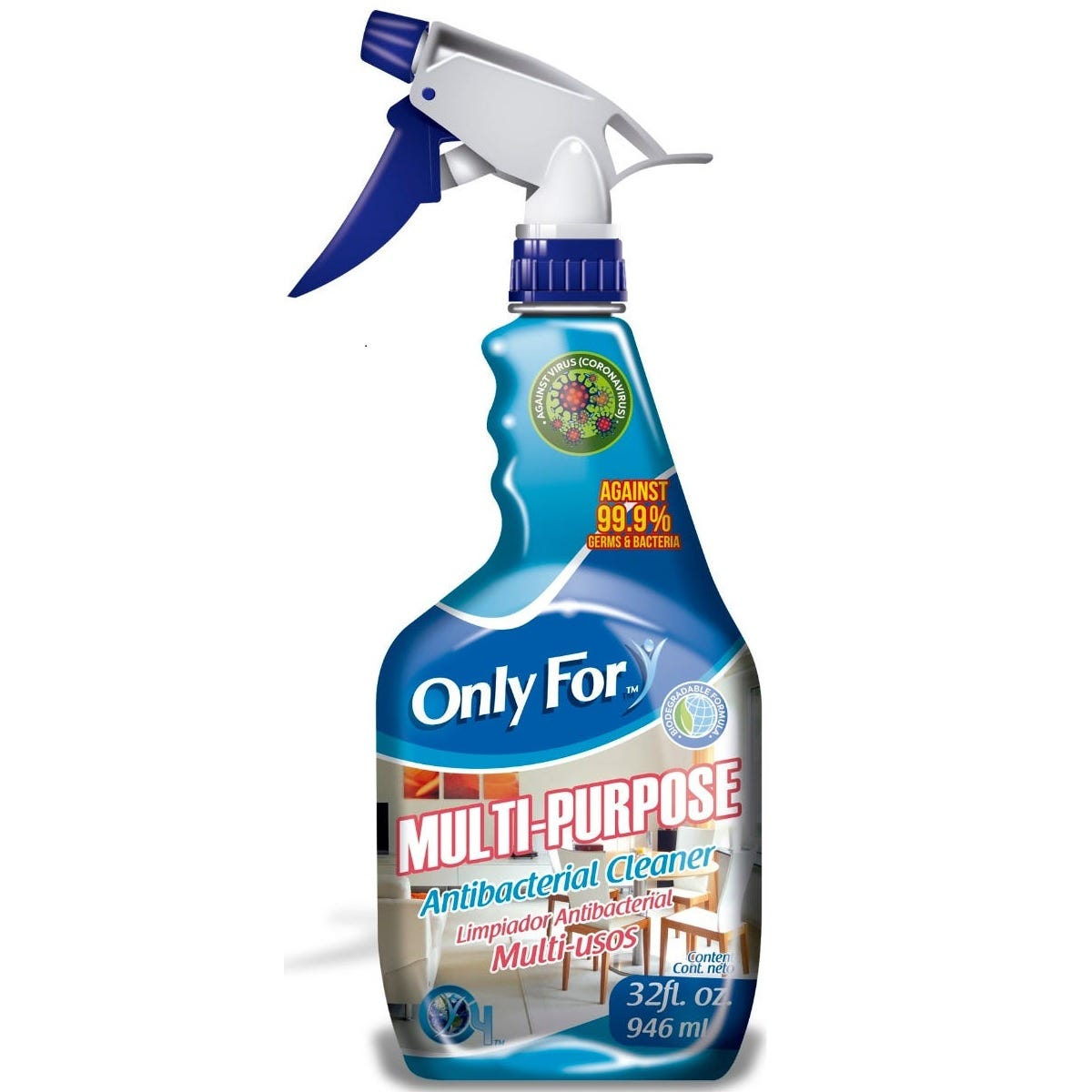 Limpiador Only For™ antibacterial multiusos, 946 mL