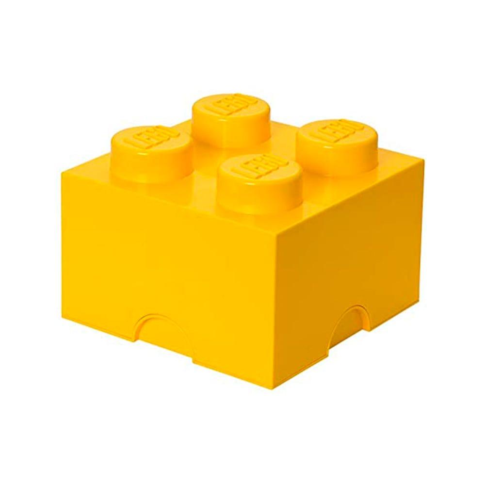 Caja de polipropileno LEGO® Brick 4 color amarillo