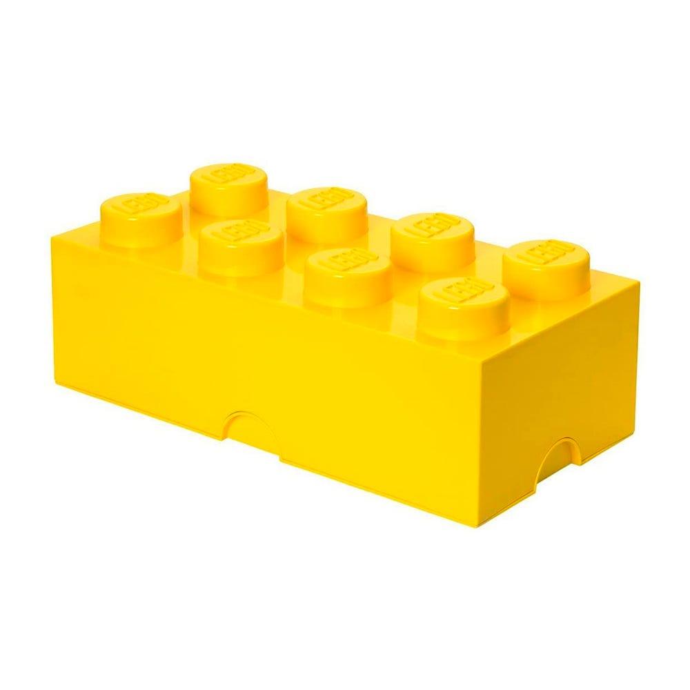 Caja de polipropileno LEGO® Brick 8 color amarillo