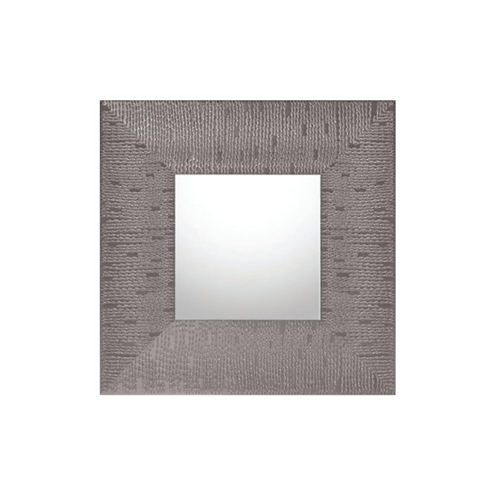 Espejo M118 de 39 x 39 cm en plata