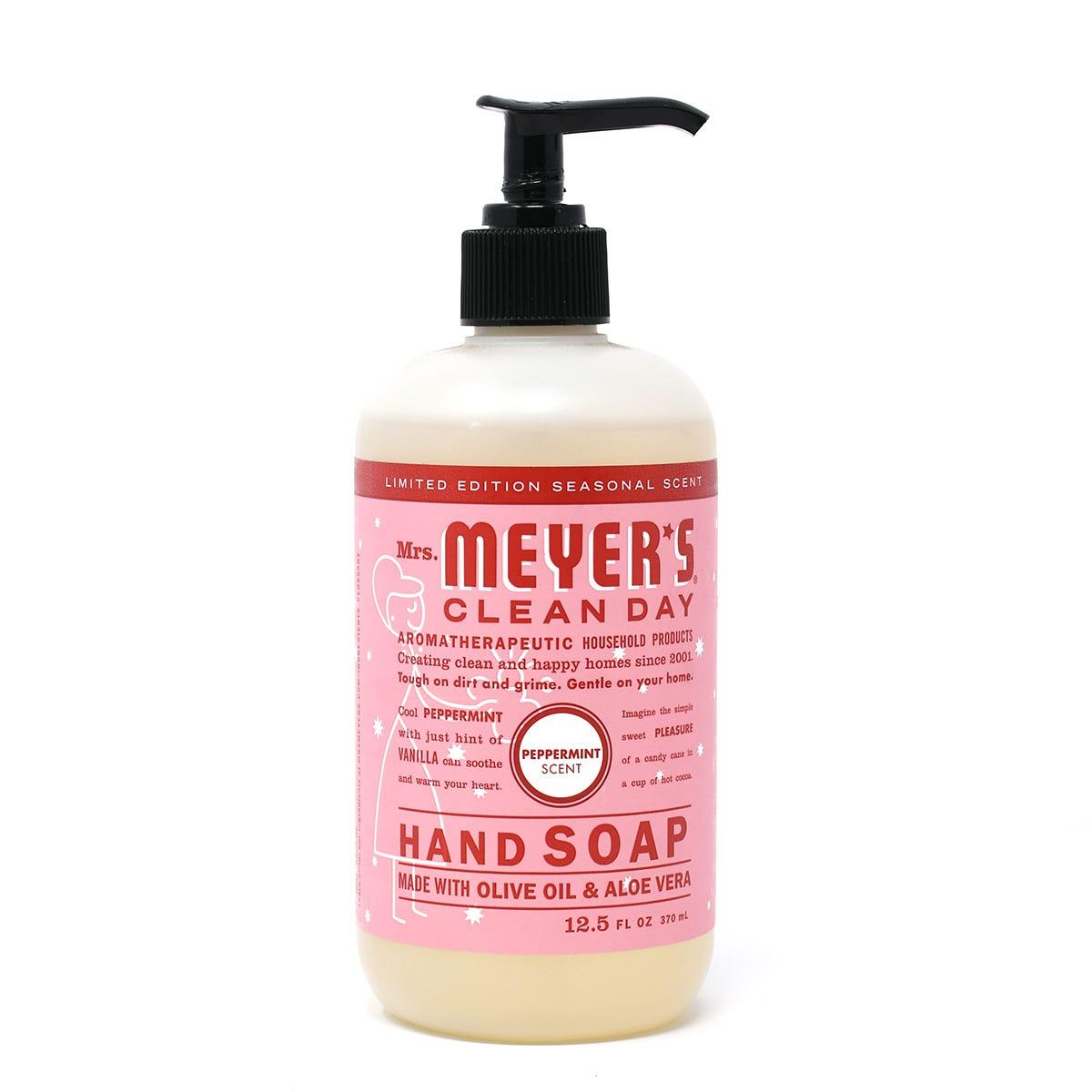 Jabón líquido para manos Mrs. Meyers de 369.66 mL aroma a menta