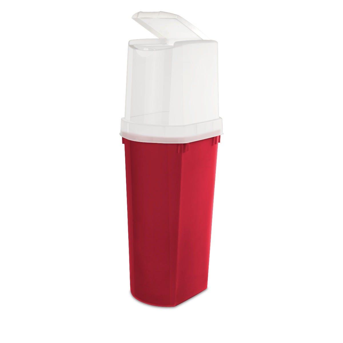Contenedor vertical para rollos de papel de 1 m en rojo
