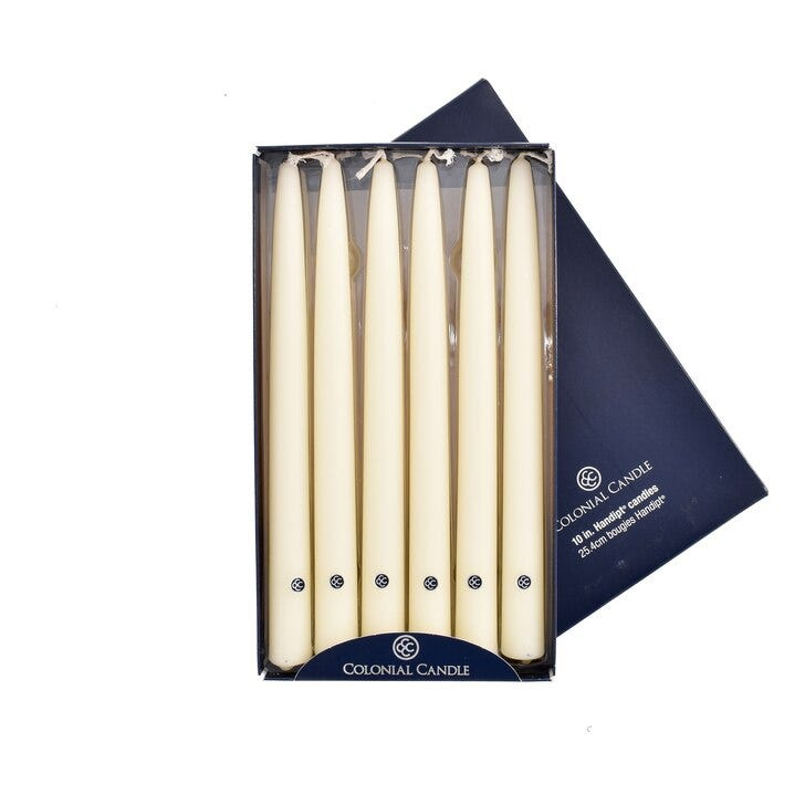 Vela clásica Colonial Candle de 25.4 cm en blanco