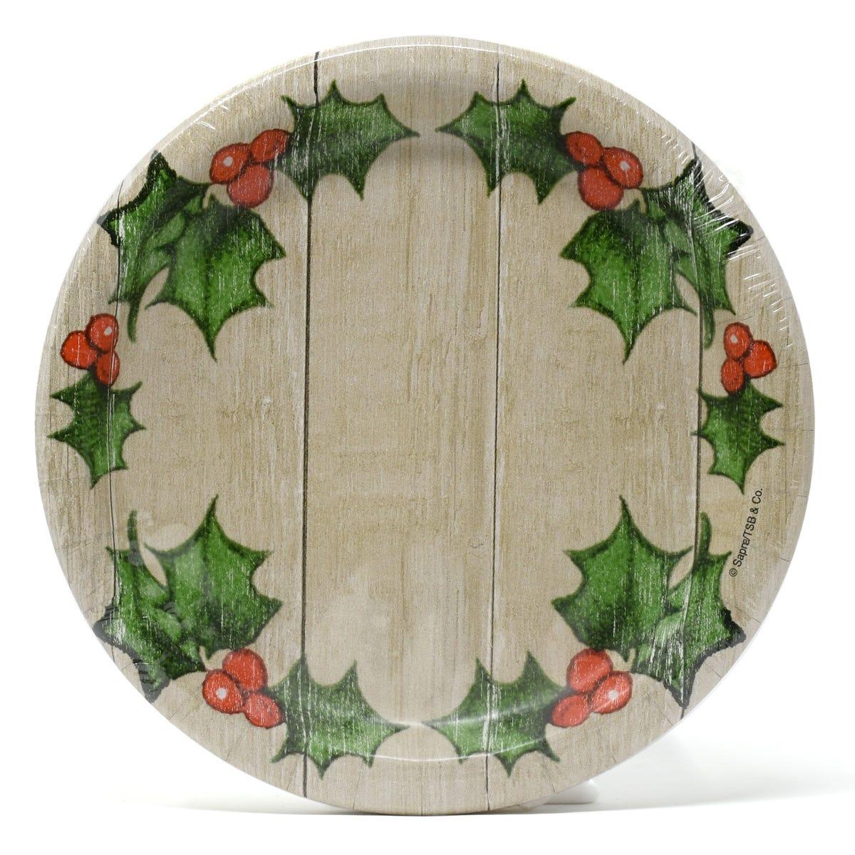 Plato para ensalada Creative Converting con diseño navideño, 12 piezas
