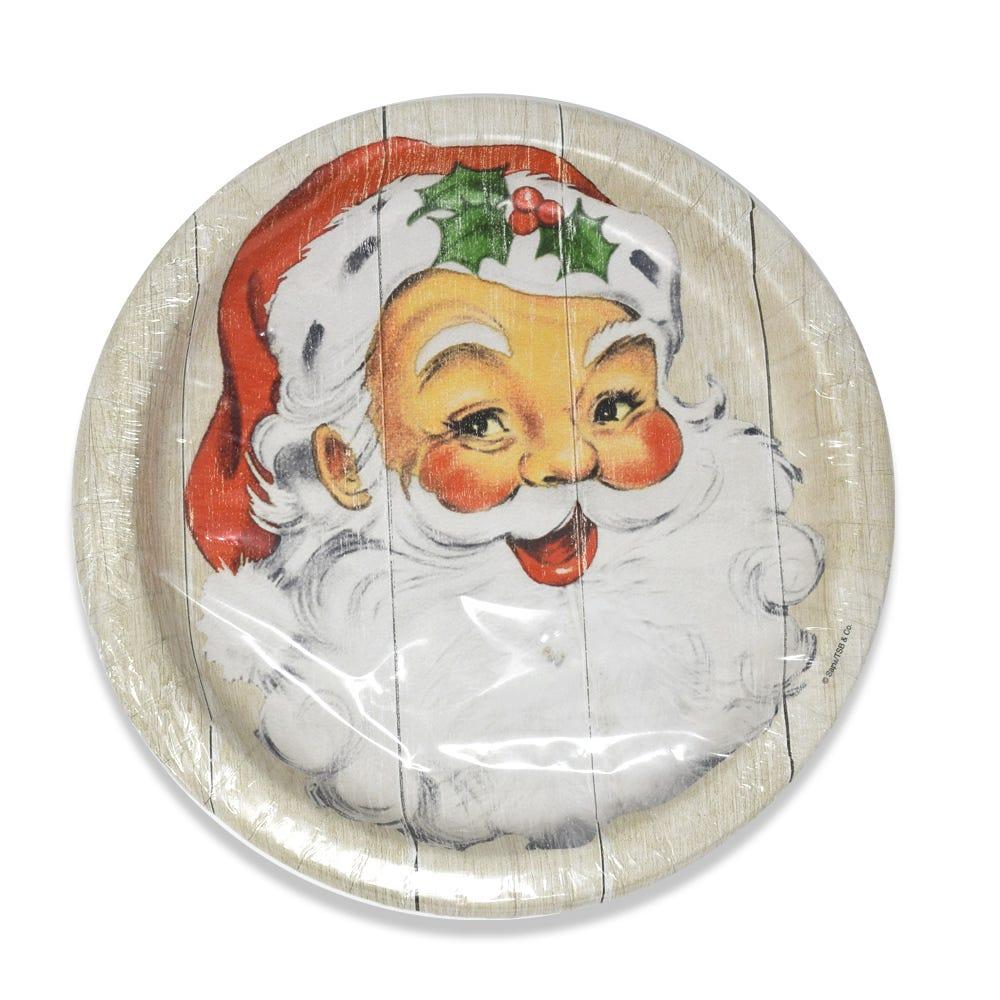 Plato trinche Creative Converting con diseño de Santa Claus, 12 piezas