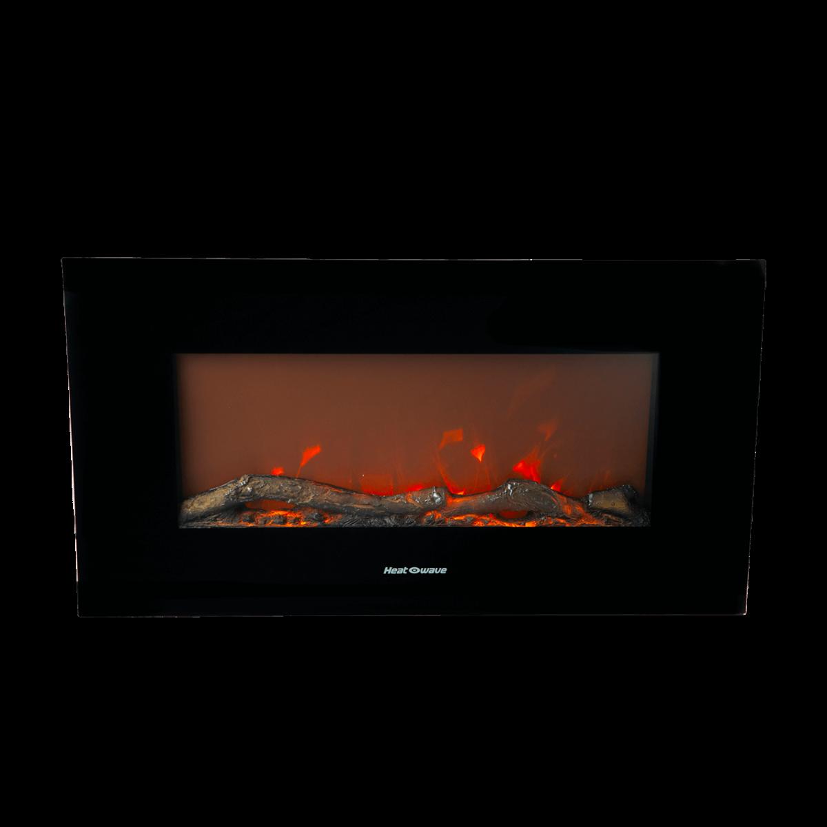 Calefactor eléctrico Heatwave® tipo chimenea en negro