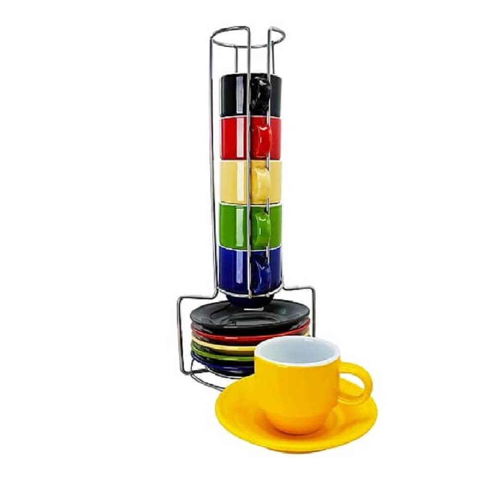 Set para espresso con rack Gibson®, 13 piezas