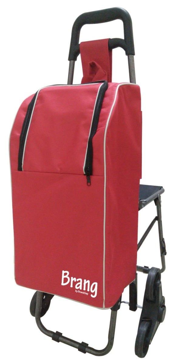 Bolsa hielera para carrito de mandado de aluminio Brang® color rojo