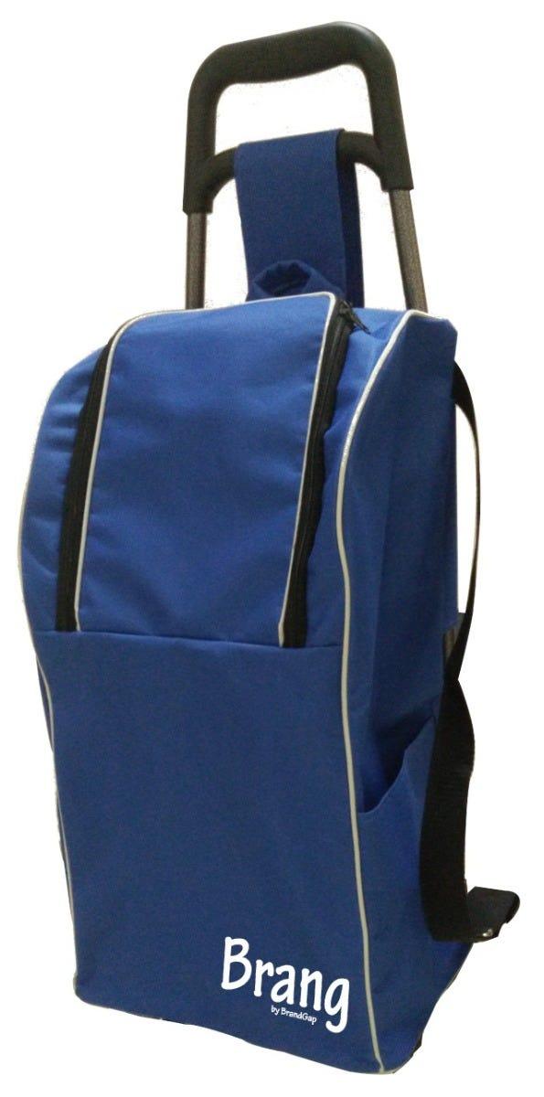 Mochila para carrito de mandado Brang® en azul