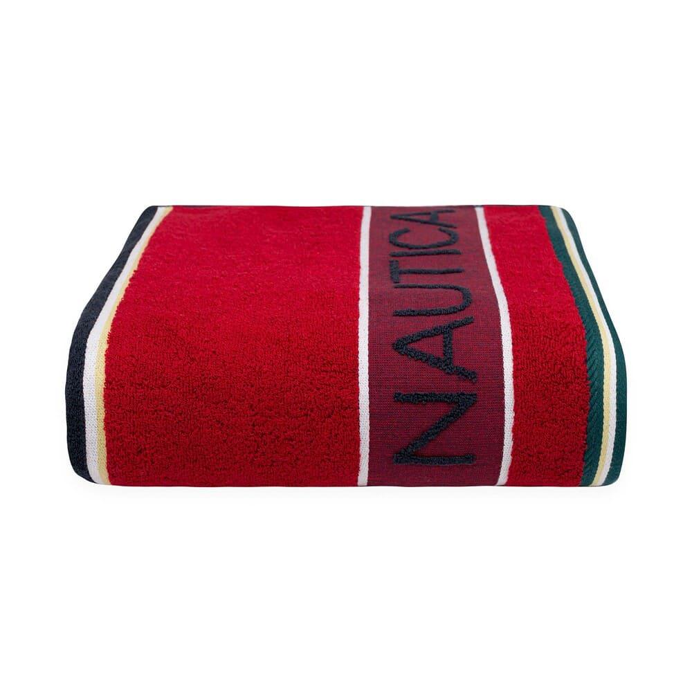 Toalla de medio baño de algodón Nautica® Radar color rojo/azul marino