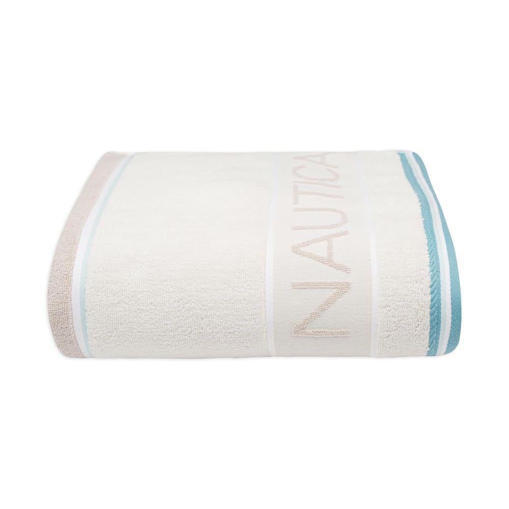 Toalla de medio baño de algodón Nautica® Radar color hueso