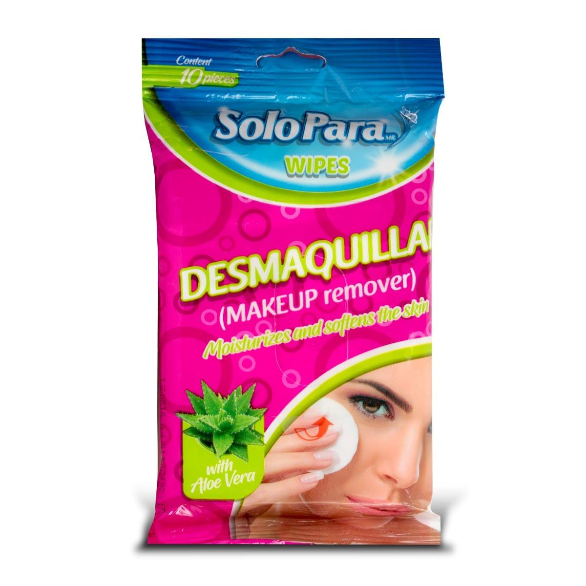 Toallitas desmaquillantes SoloPara® con aloe vera