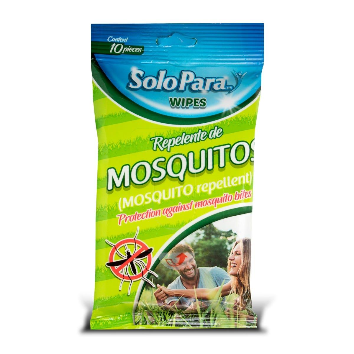 Toallitas húmedas repelentes de mosquitos SoloPara®