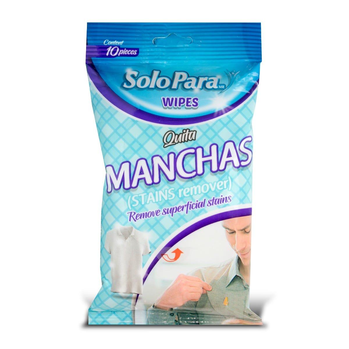 Toallitas húmedas para remover manchas SoloPara®