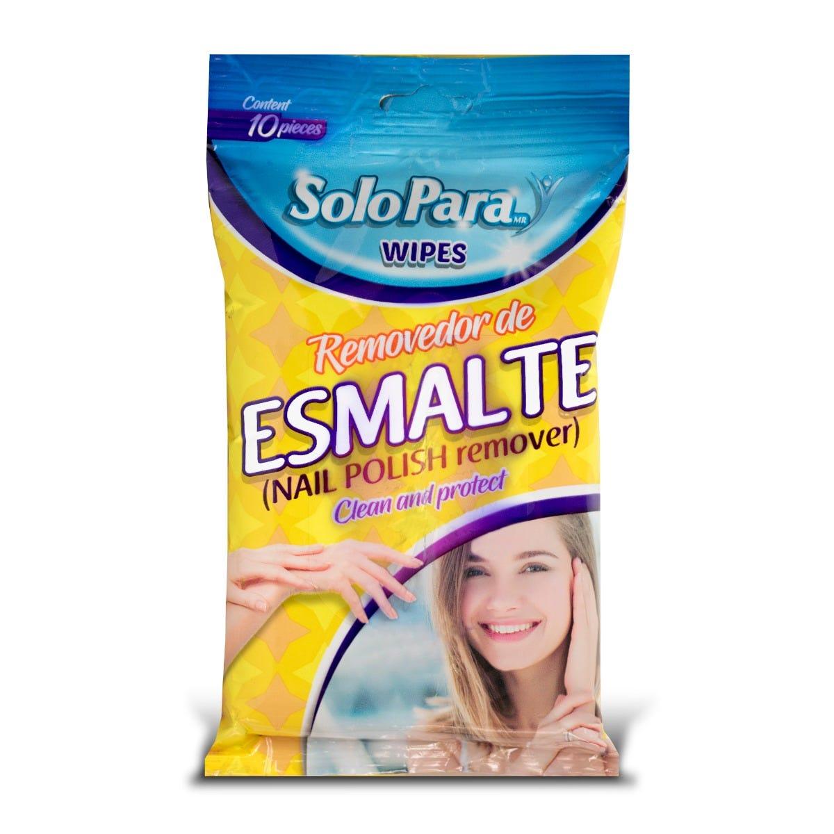 Toallitas húmedas quitaesmalte SoloPara®